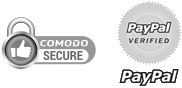 Secured by Comodo SSL and PayPal Verified